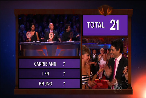 "<div class=""meta ""><span class=""caption-text "">Ralph Macchio & Karina Smirnoff danced the Jive during Week 2 of Season 12 of Dancing with the Stars. They received a score of 21.</span></div>"