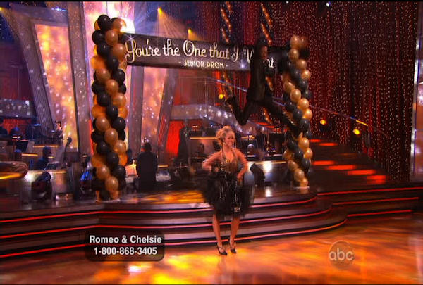 Romeo Miller & Chelsie Hightower danced the Quickstep during Week 2 of Season 12 of Dancing with the Stars. They received a score of 23.