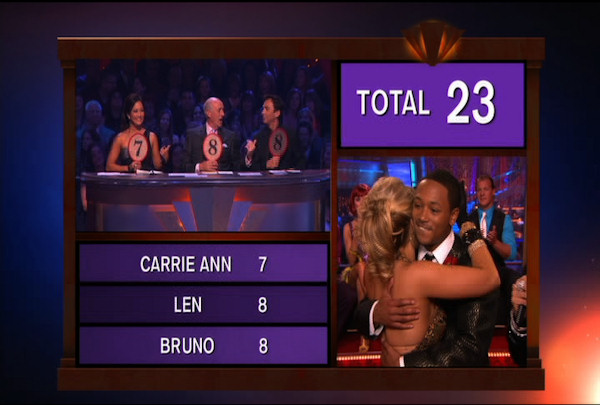 "<div class=""meta image-caption""><div class=""origin-logo origin-image ""><span></span></div><span class=""caption-text"">Romeo Miller & Chelsie Hightower danced the Quickstep during Week 2 of Season 12 of Dancing with the Stars. They received a score of 23.</span></div>"