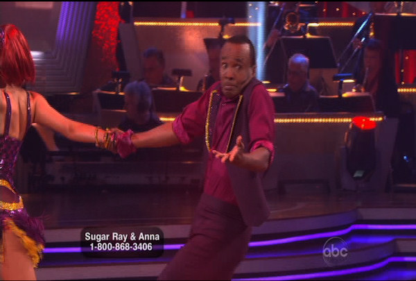 "<div class=""meta image-caption""><div class=""origin-logo origin-image ""><span></span></div><span class=""caption-text"">Sugar Ray Leonard & Anna Trebunskaya danced the Jive during Week 2 of Season 12 of Dancing with the Stars. They received a score of 17 by the judges. </span></div>"