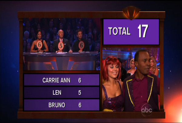Sugar Ray Leonard & Anna Trebunskaya danced the Jive during Week 2 of Season 12 of Dancing with the Stars. They received a score of 17 by the judges.
