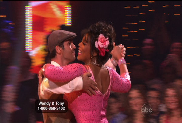 Wendy Williams & Tony Dovolani danced the Quickstep during Week 2 of Season 12 of Dancing with the Stars. They received a score of 17.