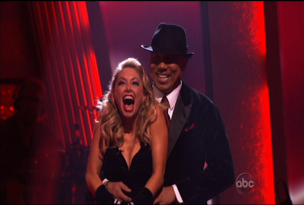 "Hines Ward & Kym Johnson were told they were safe during the ""Dancing With The Stars Result Show"" on March 29, 2011."