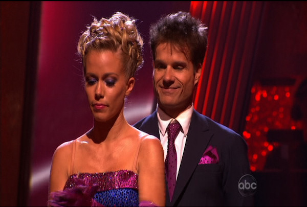"Kendra Wilkinson & Louis van Amstel were told they were safe during the ""Dancing With The Stars Result Show"" on March 29, 2011."