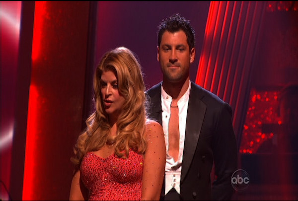 "Kirstie Alley & Maksim Chmerkovskiy were told they were safe during the ""Dancing With The Stars Result Show"" on March 29, 2011."