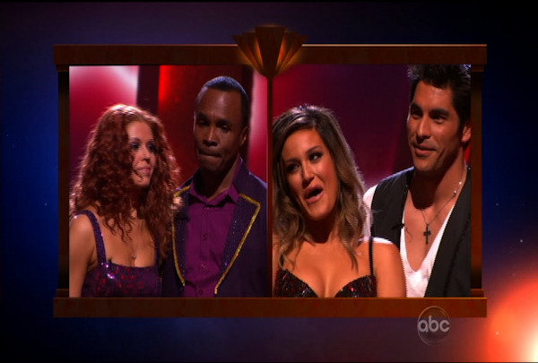 "<div class=""meta ""><span class=""caption-text "">The results came down to Sugar Ray Leonard & Anna Trebunskaya and Mike Catherwood & Lacey Schwimmer. In the end, Mike & Lacey were the first ones voted off of ""Dancing with the Stars"" Season 12. </span></div>"