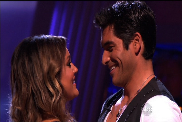 "<div class=""meta image-caption""><div class=""origin-logo origin-image ""><span></span></div><span class=""caption-text"">Mike Catherwood & Lacey Schwimmer were the first ones voted off of ""Dancing with the Stars"" Season 12. </span></div>"