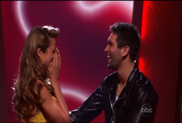 "Petra Nemcova & Dmitry Chaplin  were told they were safe during the ""Dancing With The Stars Result Show"" on March 29, 2011."