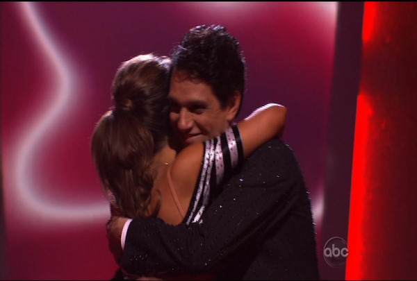 "<div class=""meta image-caption""><div class=""origin-logo origin-image ""><span></span></div><span class=""caption-text"">Ralph Macchio & Karina Smirnoff were told they were safe during the ""Dancing With The Stars Result Show"" on March 29, 2011.</span></div>"
