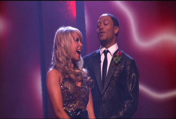 "<div class=""meta ""><span class=""caption-text "">Romeo Miller & Chelsie Hightower were told they were safe during the ""Dancing With The Stars Result Show"" on March 29, 2011.</span></div>"