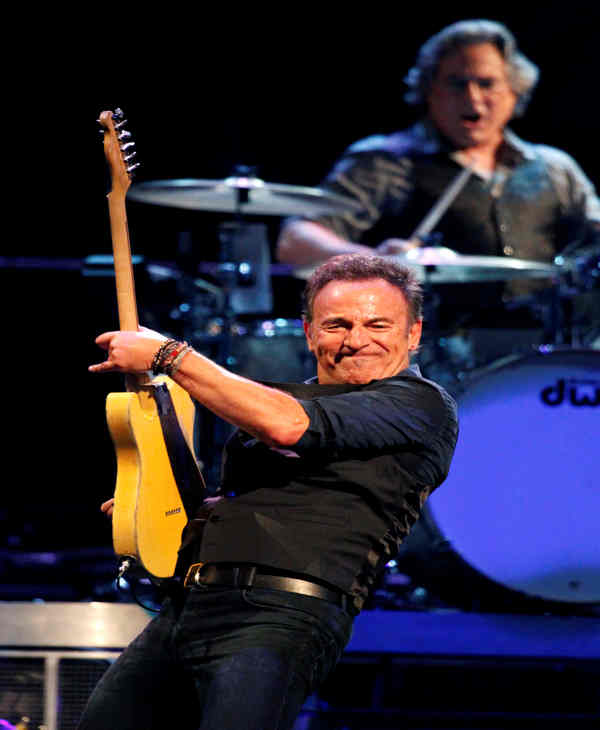 "<div class=""meta ""><span class=""caption-text "">Bruce Springsteen, left, and Max Weinberg perform with the E Street Band during the Wrecking Ball tour at the Wells Fargo Center Wednesday, March 28, 2012 in Philadelphia. (AP Photo/Alex Brandon)</span></div>"