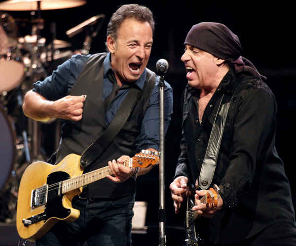 "<div class=""meta ""><span class=""caption-text "">Bruce Springsteen, left, performs with Steven Van Zandt, and the E Street Band during the Wrecking Ball tour at the Wells Fargo Center Wednesday, March 28, 2012 in Philadelphia.  (AP Photo/Alex Brandon)</span></div>"