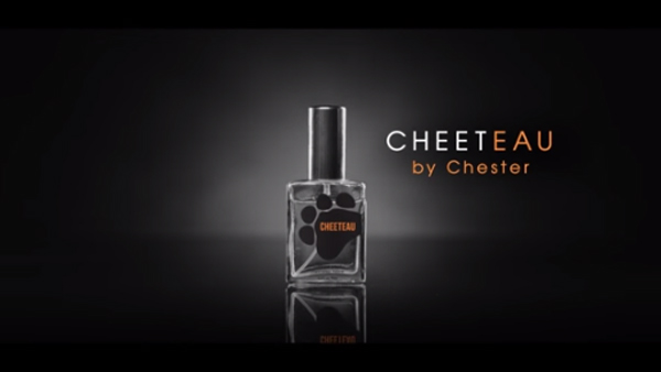 "Cheeteau by Chester   ""Cheeteau, the new fragrance from Chester. The smell of hunger is wafting to a nose near you April 1st."" - Cheetos"