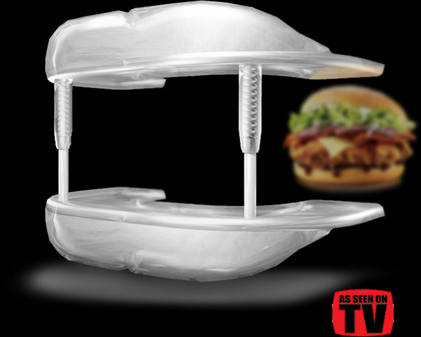 "KFC Australia: Mighty Mouth Expander   ""Oops. We made our Mighty Burger too big for the average mouth.  Not to worry, our R&D team has been busy collaborating with Australia's leading orthodontists to develop a solution - a simple device designed to make your mouth bigger.  Introducing the Mighty Mouth Expander,"" - KFC Australia."
