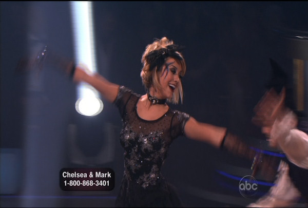 Chelsea Kane & Mark Ballas danced the Viennese Waltz during Week 4 of Season 12 of Dancing with the Stars. They received a score of 26.