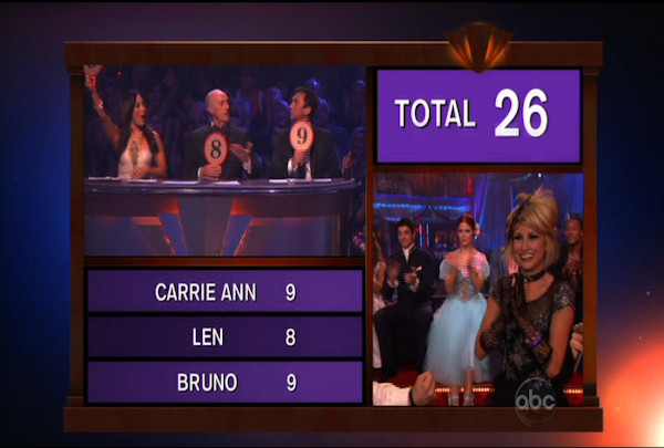 "<div class=""meta ""><span class=""caption-text "">Chelsea Kane & Mark Ballas danced the Viennese Waltz during Week 4 of Season 12 of Dancing with the Stars. They received a score of 26. </span></div>"