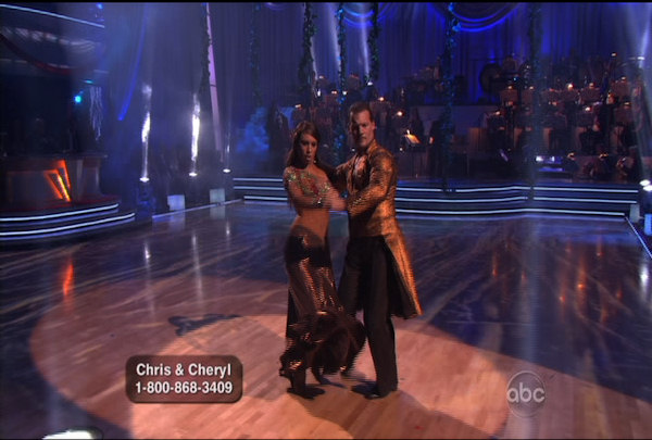 Chris Jericho & Cheryl Burke danced the Paso Doble during Week 4 of Season 12 of Dancing with the Stars. They received a score of 23.