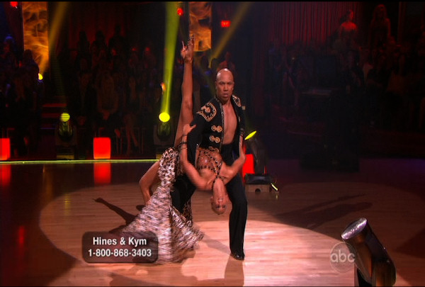 "<div class=""meta image-caption""><div class=""origin-logo origin-image ""><span></span></div><span class=""caption-text"">Hines Ward & Kym Johnson danced the Paso Doble during Week 4 of Season 12 of Dancing with the Stars. They received a score of 25. </span></div>"
