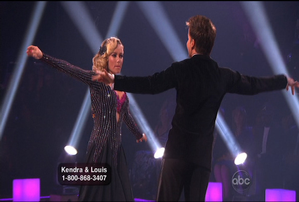 Kendra Wilkinson & Louis van Amstel danced the Viennese Waltz during Week 4 of Season 12 of Dancing with the Stars. They received a score of 18.
