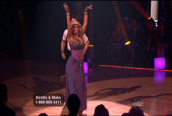 "<div class=""meta ""><span class=""caption-text "">Kirstie Alley & Maksim Chmerkovskiy danced the Waltz during Week 4 of Season 12 of Dancing with the Stars. They received a score of 22. </span></div>"