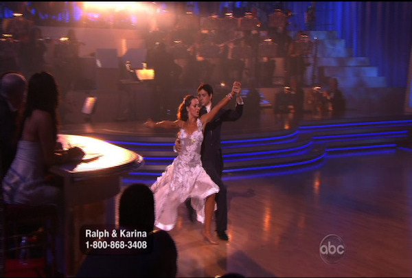 "<div class=""meta ""><span class=""caption-text "">Ralph Macchio & Karina Smirnoff danced the Waltz during Week 4 of Season 12 of Dancing with the Stars. They received a score of 25. </span></div>"