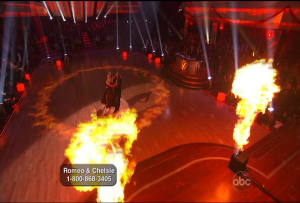 Romeo Miller & Chelsie Hightower danced the Paso Doble during Week 4 of Season 12 of Dancing with the Stars. They received a score of 23.