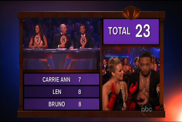 "<div class=""meta image-caption""><div class=""origin-logo origin-image ""><span></span></div><span class=""caption-text"">Romeo Miller & Chelsie Hightower danced the Paso Doble during Week 4 of Season 12 of Dancing with the Stars. They received a score of 23.</span></div>"