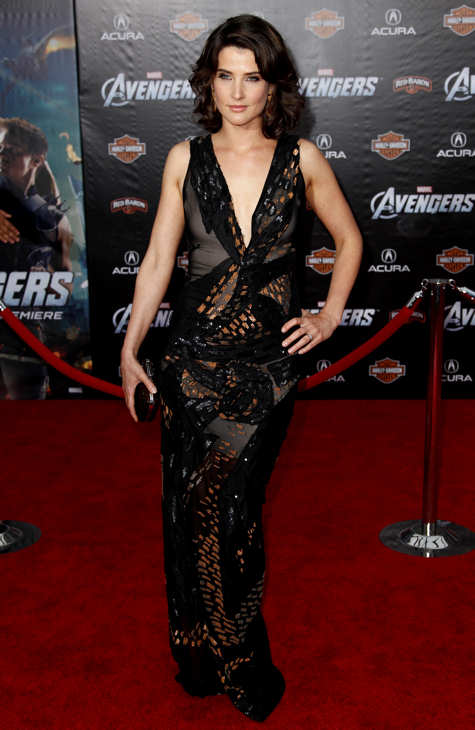 Cast member Cobie Smulders arrives at the premiere of &#34;The Avengers&#34; in Los Angeles, Wednesday, April 11, 2012. &#34;The Avengers&#34; will be released in theaters May 4, 2012. <span class=meta>(AP Photo&#47;Matt Sayles)</span>