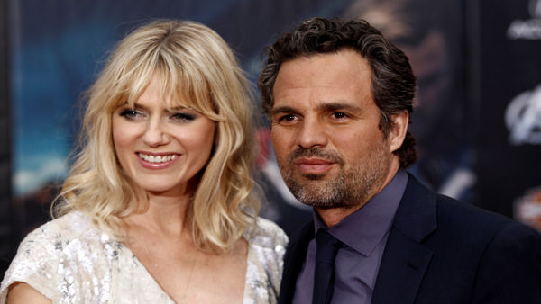 Cast member Mark Ruffalo, right, and Sunrise Coigney arrive at the premiere of &#34;The Avengers&#34; in Los Angeles, Wednesday, April 11, 2012. &#34;The Avengers&#34; will be released in theaters May 4, 2012.  <span class=meta>(AP Photo&#47;Matt Sayles)</span>