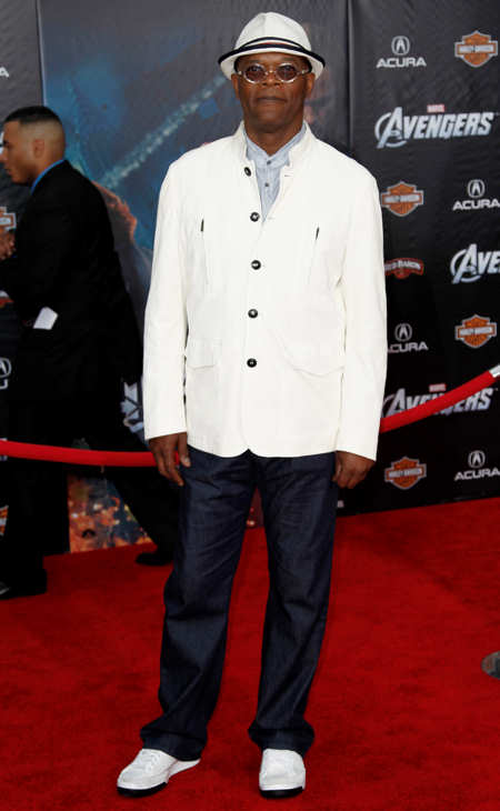 "<div class=""meta ""><span class=""caption-text "">Cast member Samuel L. Jackson arrives at the premiere of ""The Avengers"" in Los Angeles, Wednesday, April 11, 2012. ""The Avengers"" will be released in theaters May 4, 2012. (AP Photo/Matt Sayles)</span></div>"