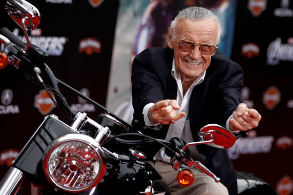 "<div class=""meta ""><span class=""caption-text "">Stan Lee arrives at the premiere of ""The Avengers"" in Los Angeles, Wednesday, April 11, 2012. ""The Avengers"" will be released in theaters May 4, 2012. (AP Photo/Matt Sayles)</span></div>"