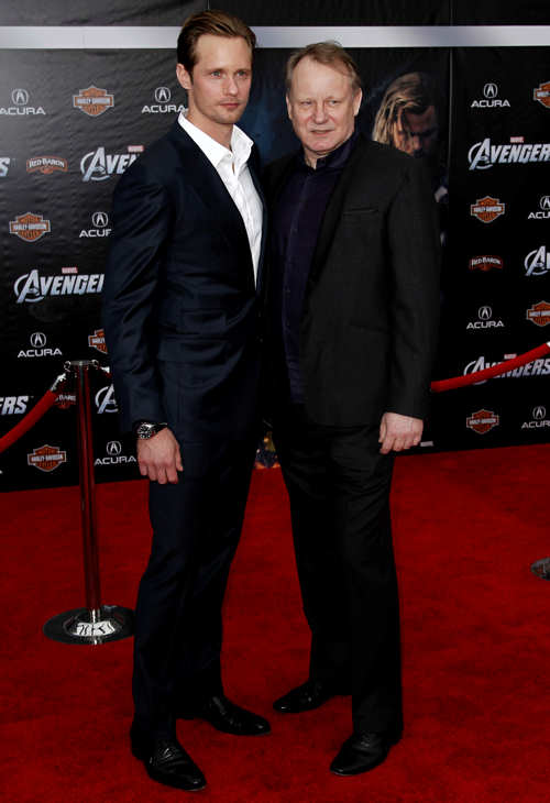 Cast member Stellan Skarsgard, right, and Alexander Skarsgard arrive at the premiere of &#34;The Avengers&#34; in Los Angeles, Wednesday, April 11, 2012. &#34;The Avengers&#34; will be released in theaters May 4, 2012. <span class=meta>(AP Photo&#47;Matt Sayles)</span>