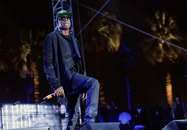 Jay Z makes a surprise guest appearance during the set of rapper Nas at the 2014 Coachella Music and Arts Festival on Saturday, April 12, 2014, in Indio, Calif. &#40;Photo by Chris Pizzello&#47;Invision&#47;AP&#41; <span class=meta>(AP Photo&#47; Chris Pizzello)</span>