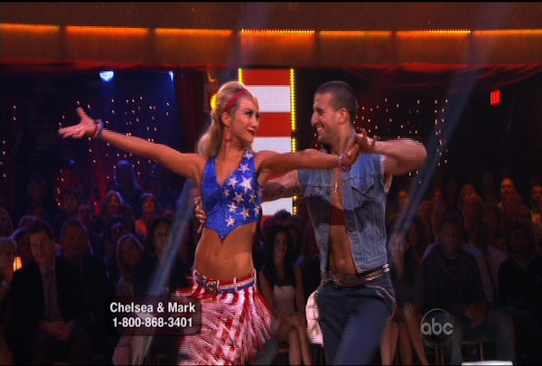 "<div class=""meta image-caption""><div class=""origin-logo origin-image ""><span></span></div><span class=""caption-text"">Chelsea Kane & Mark Ballas danced the Foxtrot during Week 5 of the Dancing wih the Stars Season 12. They received a score of 26.</span></div>"