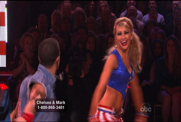 Chelsea Kane & Mark Ballas danced the Foxtrot during Week 5 of the Dancing wih the Stars Season 12. They received a score of 26.