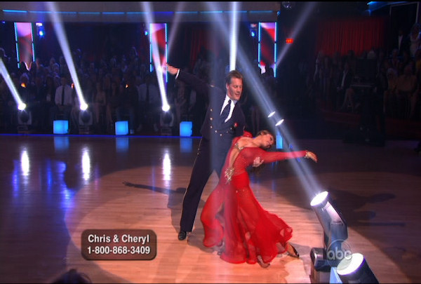 "<div class=""meta image-caption""><div class=""origin-logo origin-image ""><span></span></div><span class=""caption-text"">Chris Jericho & Cheryl Burke danced the Viennese Waltz during Week 5 of the Dancing wih the Stars Season 12. They received a score of 26.</span></div>"