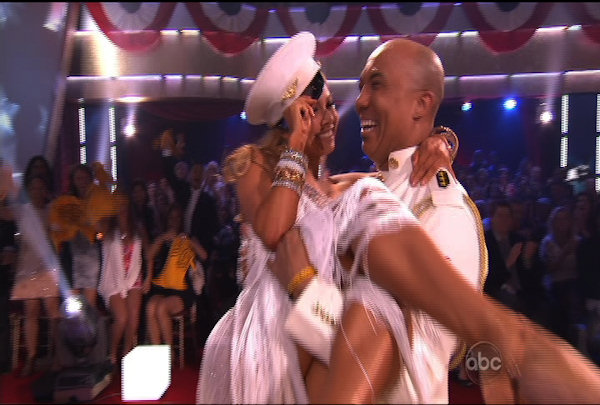 "<div class=""meta image-caption""><div class=""origin-logo origin-image ""><span></span></div><span class=""caption-text"">Hines Ward & Kym Johnson danced the Rumba during Week 5 of the Dancing wih the Stars Season 12. They received a score of 27.</span></div>"