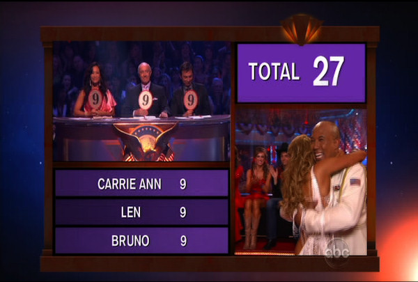 "<div class=""meta ""><span class=""caption-text "">Hines Ward & Kym Johnson danced the Rumba during Week 5 of the Dancing wih the Stars Season 12. They received a score of 27.</span></div>"