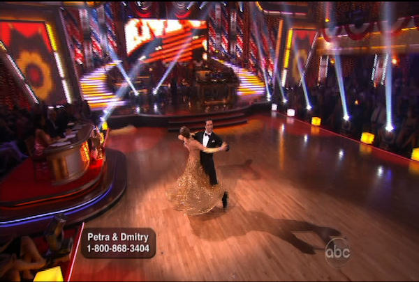 Petra Nemcova & Dmitry Chaplin danced the Quickstep during Week 5 of the Dancing wih the Stars Season 12. They received a score of 22.