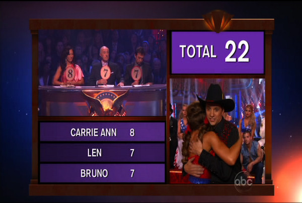Ralph Macchio & Karina Smirnoff danced the Samba during Week 5 of the Dancing wih the Stars Season 12. They received a score of 22.