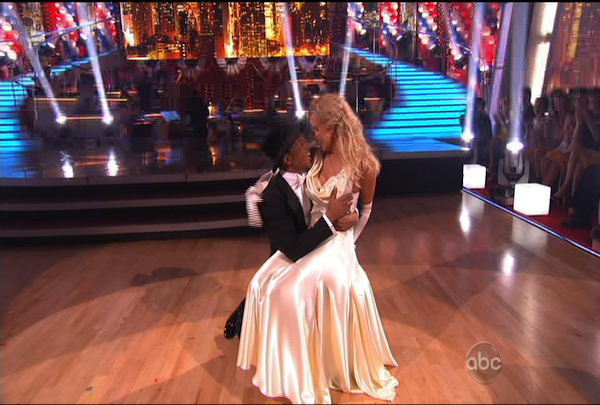 "<div class=""meta ""><span class=""caption-text "">Romeo Miller & Chelsie Hightower danced the Foxtrot during Week 5 of the Dancing wih the Stars Season 12. They received a score of 26.</span></div>"