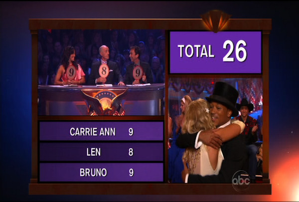 Romeo Miller & Chelsie Hightower danced the Foxtrot during Week 5 of the Dancing wih the Stars Season 12. They received a score of 26.