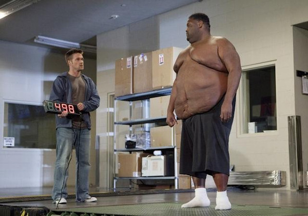 "<div class=""meta ""><span class=""caption-text "">EXTREME MAKEOVER: WEIGHT LOSS EDITION - ""Dana"" - Dana, a 45 year-old bachelor from Franklin, Tennessee who has masked his emotional pain with food for over three decades, weighs in at 498 pounds. When trainer and transformation specialist Chris Powell surprises Dana at his water aerobics class, Dana is overcome with joy at the chance to reclaim his life. Once his weight loss journey begins, he starts to see changes in his life as well as his waistline. But when the progress mysteriously stops, Chris has an intense and emotional confrontation with Dana that leads to a revelation, on ""Extreme Makeover: Weight Loss Edition,"" MONDAY, JUNE 13 (10:01-11:00 p.m., ET) on the ABC Television Network. (ABC/GREG ZABILSKI) CHRIS POWELL, DANA </span></div>"