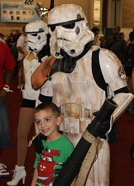 Even Storm Troopers make new friends at Comic Con 2012 in Philadelphia.