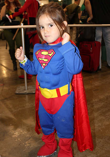 There is no age limit on being Super... or super cute... at Philadelphia's Comic Con.