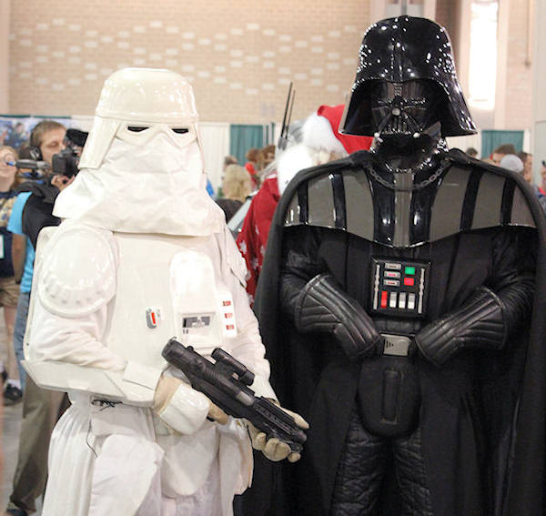 Darth Vader and a Snow Trooper.