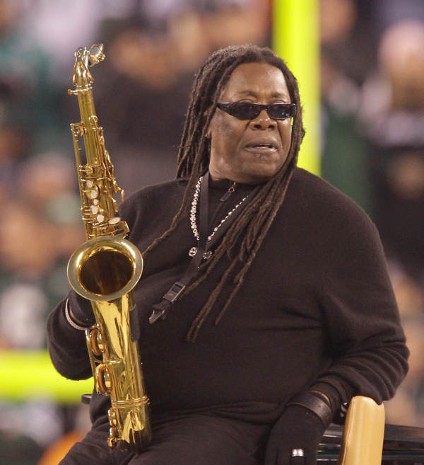 In this Dec. 12, 2010 photo, saxophonist Clarence Clemons performs the National Anthem before an NFL football game between the Miami Dolphins and the New York Jets in East Rutherford, N.J. A spokeswoman for Bruce Springsteen and the E Street Band says saxophone player Clarence Clemons has died in Florida at age 69 on Saturday, June 18, 2011.  <span class=meta>(AP Photo&#47;Kathy Willens)</span>