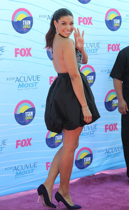 "<div class=""meta ""><span class=""caption-text "">Jordin Sparks arrives at the Teen Choice Awards on Sunday, July 22, 2012, in Universal City, Calif. (Photo by Jordan Strauss/Invision/AP) </span></div>"
