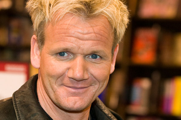 Chef Gordon Ramsay signs his book &#34;Healthy Appetite&#34; at Borders Books, Tuesday, Feb. 10, 2009 in New York.  <span class=meta>(AP Photo&#47;Charles Sykes)</span>