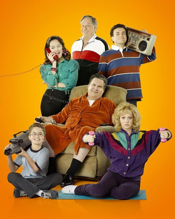 "THE GOLDBERGS premieres Tuesday Sept. 24th at 9:00 p.m. - ABC's ""The Goldbergs"" stars Wendi McLendon-Covey as Beverly Goldberg, Sean Giambrone as Adam Goldberg, Troy Gentile as Barry Goldberg, Hayley Orrantia as Erica Goldberg, with George Segal as Pops Solomon and Jeff Garlin as Murray Goldberg. (ABC/Bob D'Amico) BACK ROW: HAYLEY ORRANTIA, GEORGE SEGAL, TROY GENTILE; FRONT ROW: SEAN GIAMBRONE, JEFF GARLIN, WENDI MCLENDON-COVEY-"